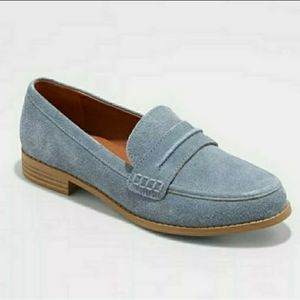 Closed Back Slip On Suede Loafers